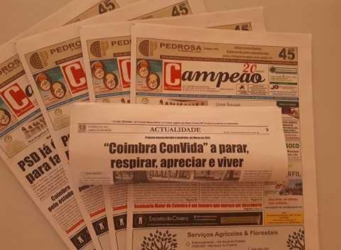 """Jornal Campeão: Reportagem: """"Coimbra ConVida"""" a parar, respirar, apreciar e viver"""