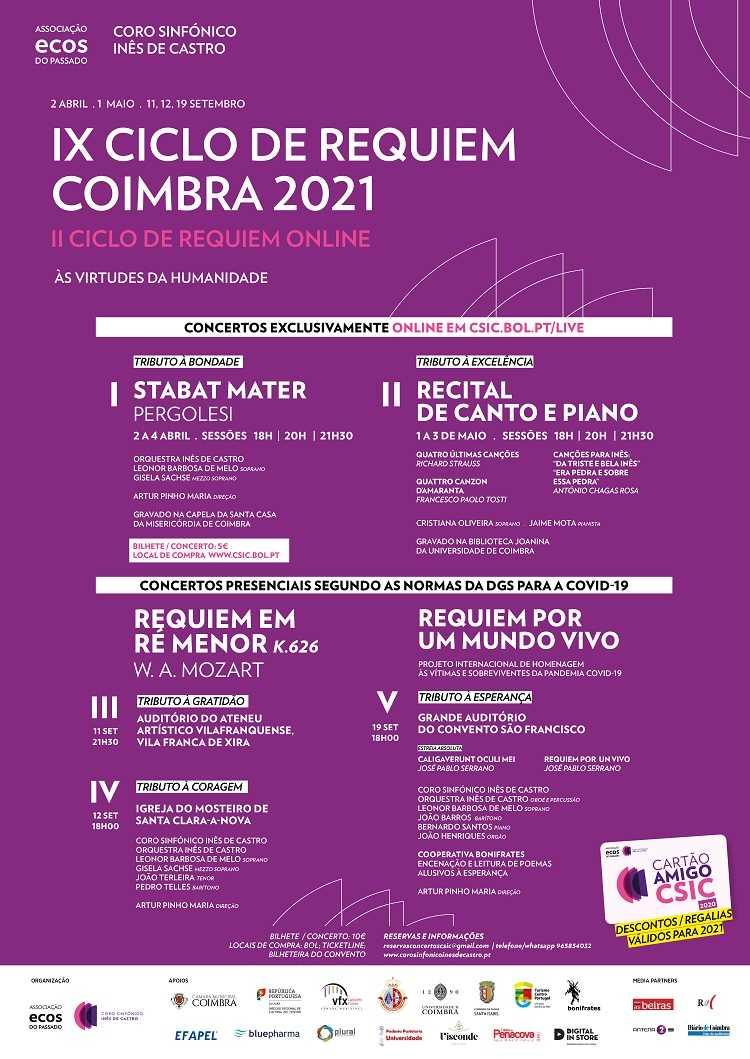 Jornal Campeão: Ciclo de Requiem de Coimbra arranca no digital e termina com concertos presenciais