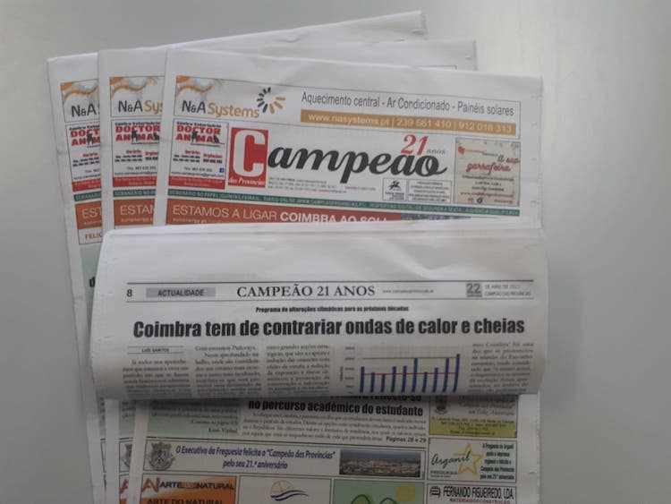 Jornal Campeão: Coimbra tem de contrariar ondas de calor e cheias