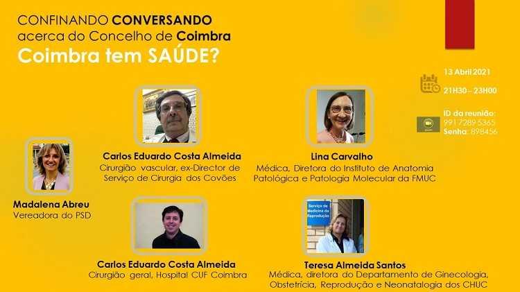 """Jornal Campeão: """"Confinando Conversando"""" vai discutir se """"Coimbra tem Saúde"""""""