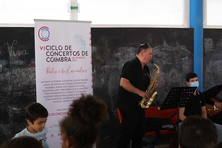 Jornal Campeão: Orquestra de Sopros de Coimbra realiza mini-concertos pelas escolas do distrito