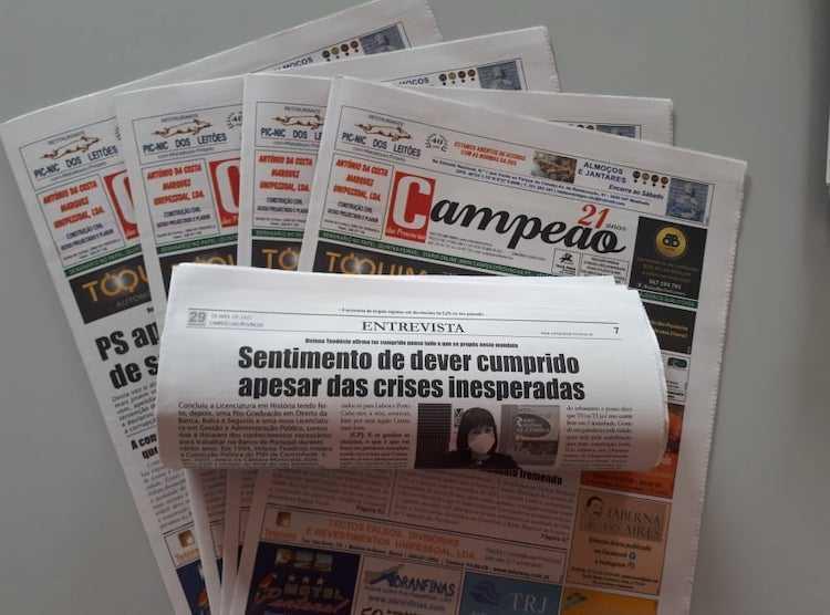 Jornal Campeão: Entrevista a Helena Teodósio, presidente da Câmara de Cantanhede