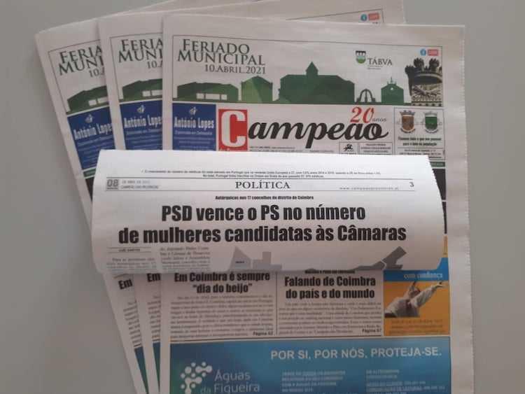 Jornal Campeão: PSD vence o PS no número de mulheres candidatas às Câmaras