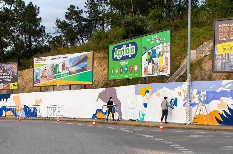 Jornal Campeão: Pombal pinta mural junto ao IC2 para incentivar visitas turísticas