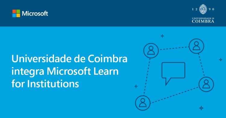 Jornal Campeão: Universidade de Coimbra integra Programa 'Microsoft Learn for Institutions'