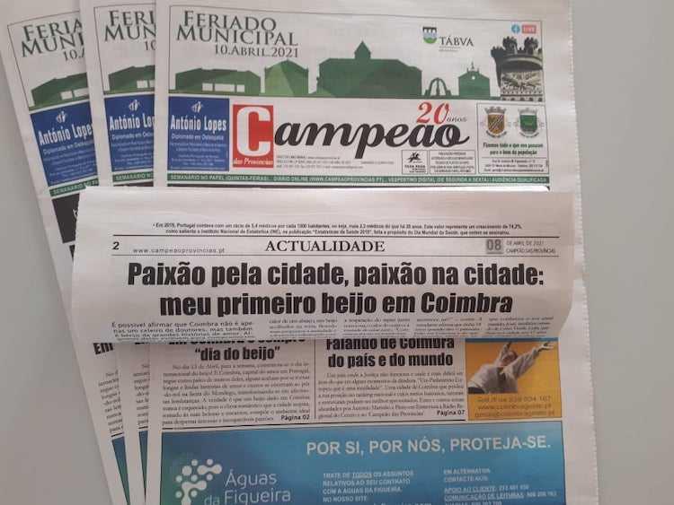 """Jornal Campeão: Reportagem: Em Coimbra é sempre """"dia do beijo"""""""