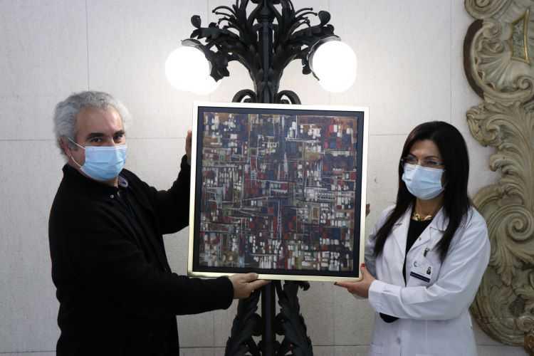 Jornal Campeão: Vítor Costa oferece pintura para homenagear profissionais de saúde do CHUC