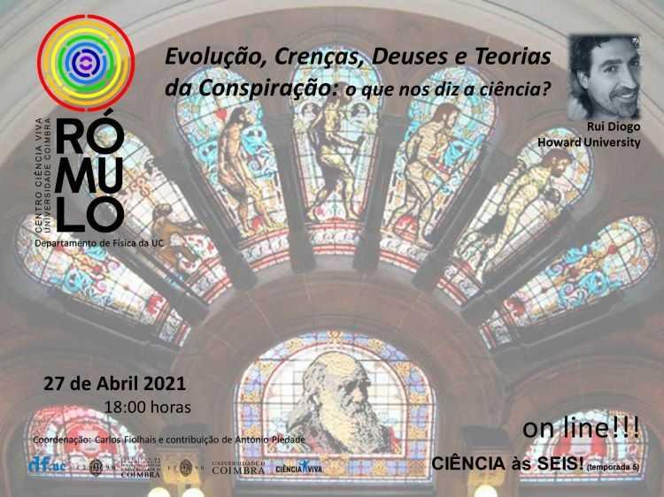 """Jornal Campeão: Rómulo divulga sessão sobre """"Evolução,Crenças,Deuses, e Teorias da Conspiração"""""""
