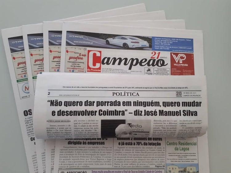 Jornal Campeão: Entrevista a José Manuel Silva