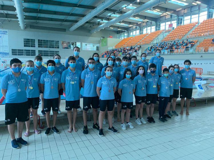 Jornal Campeão: Nadadores da Sociedade Columbófila conquistam 64 pódios