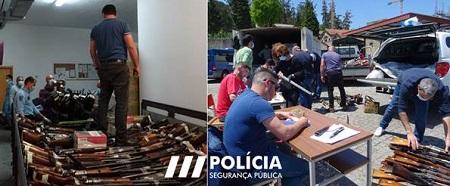 Jornal Campeão: Comando de Coimbra da PSP entregou 566 armas e mil munições