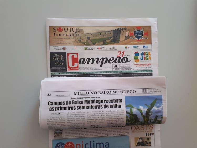 Jornal Campeão: Campos do Baixo Mondego recebem as primeiras sementeiras de milho