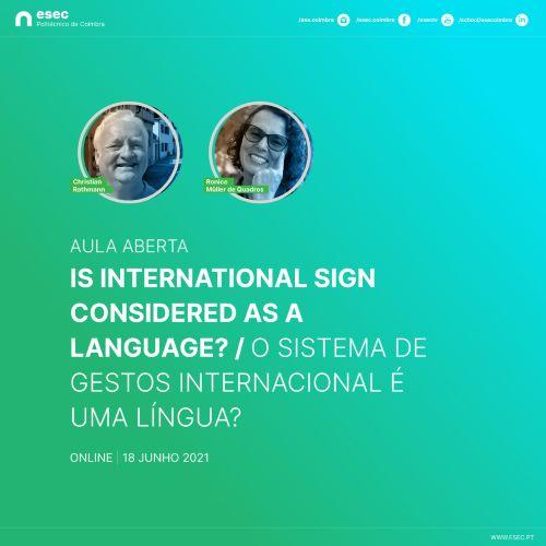 Jornal Campeão: ESEC proporciona reunião sobre Sistemas de Gestos internacional de Língua