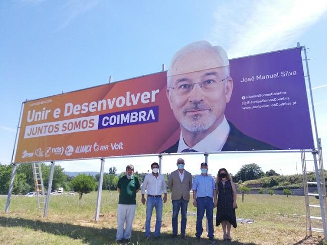 """Jornal Campeão: José Manuel Silva inaugurou primeiro cartaz da coligação """"Juntos Somos Coimbra"""""""