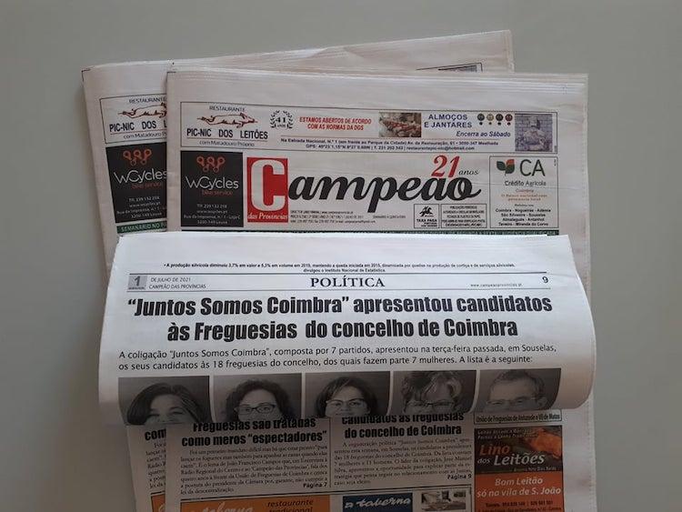 """Jornal Campeão: """"Juntos Somos Coimbra"""" apresentou candidatos às Freguesias de Coimbra"""