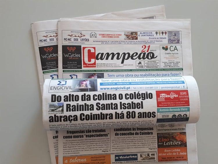 Jornal Campeão: Do alto da colina o colégio Rainha Santa Isabel abraça Coimbra há 80 anos