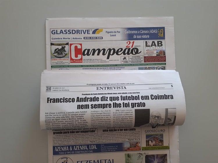 """Jornal Campeão: Francisco Andrade sai """"pela porta grande para não ser empurrado"""""""