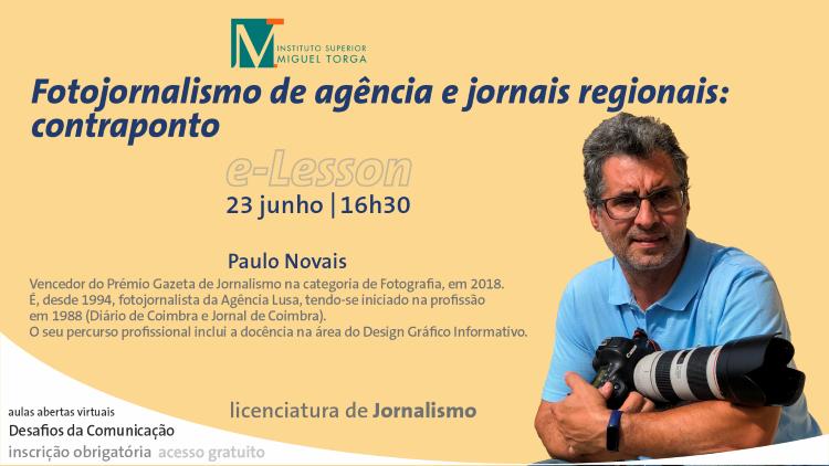 """Jornal Campeão: ISMT promove aula sobre """"Fotojornalismo de agência e jornais regionais: contraponto"""""""