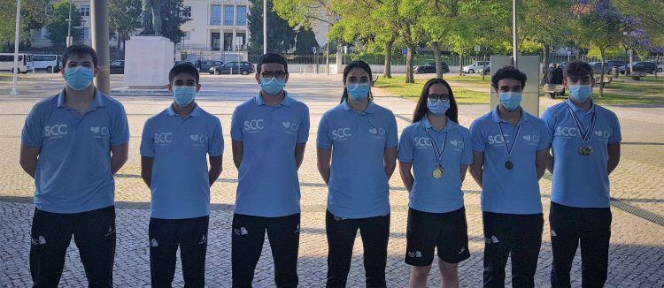 Jornal Campeão: Nadadores da Columbófila conquistaram sete pódios