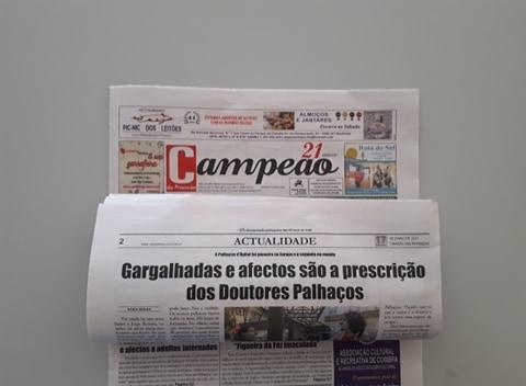 Jornal Campeão: Gargalhadas e afectos são a prescrição  dos Doutores Palhaços