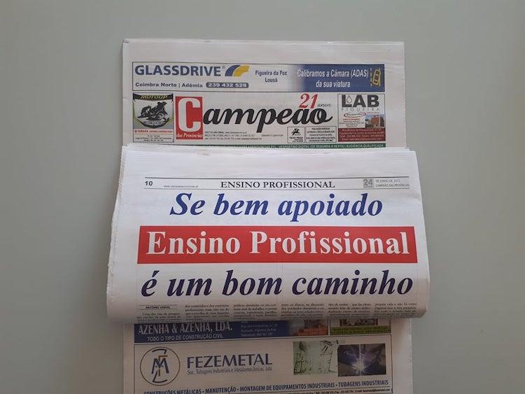 Jornal Campeão: Ensino profissional é uma opção a ter em conta