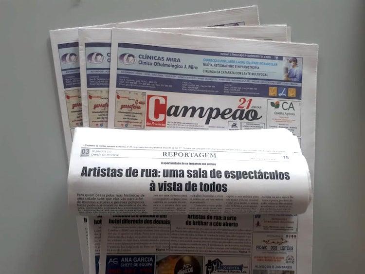Jornal Campeão: Artistas de rua: a arte de brilhar a céu aberto