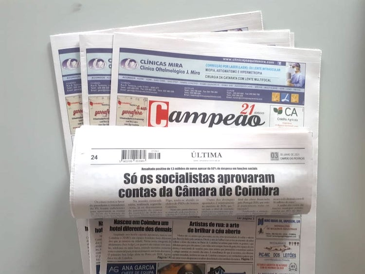 Jornal Campeão: Só os socialistas aprovaram contas da Câmara de Coimbra