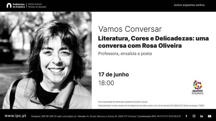 """Jornal Campeão: """"Vamos conversar"""" com Rosa Oliveira no Centro Cultural do Politécnico de Coimbra"""
