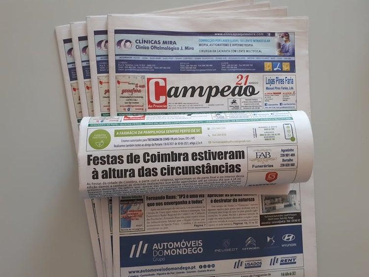 Jornal Campeão: Festas de Coimbra estiveram à altura das circunstâncias