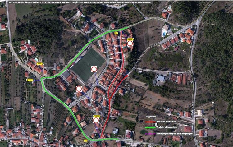 Jornal Campeão: Coimbra: Trânsito cortado em ruas de Cernache devido a obras