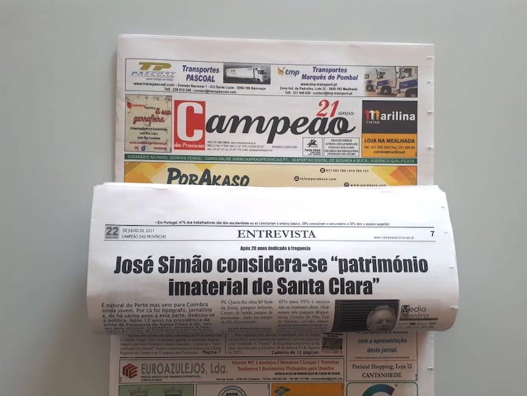 """Jornal Campeão: José Simão considera-se """"património  imaterial de Santa Clara"""""""