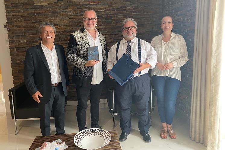 Jornal Campeão: Filho do geneticista António Lima-de-Faria visitou Cantanhede