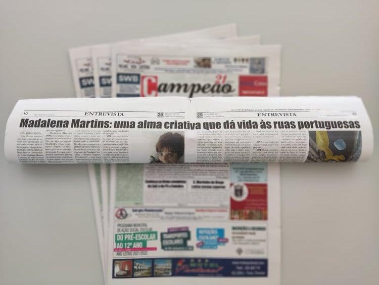 Jornal Campeão: Madalena Martins: uma alma criativa que dá vida às ruas portuguesas