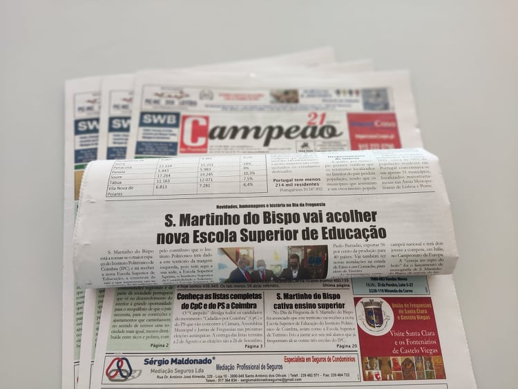 Jornal Campeão: S.Martinho do Bispo vai acolher nova Escola Superior de Educação
