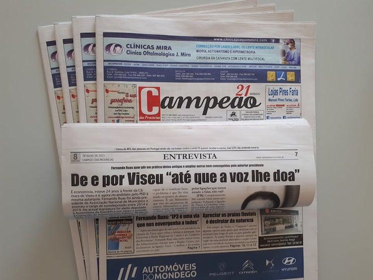 """Jornal Campeão: Entrevista a Fernando Ruas: De e por Viseu """"até que a voz lhe doa"""""""