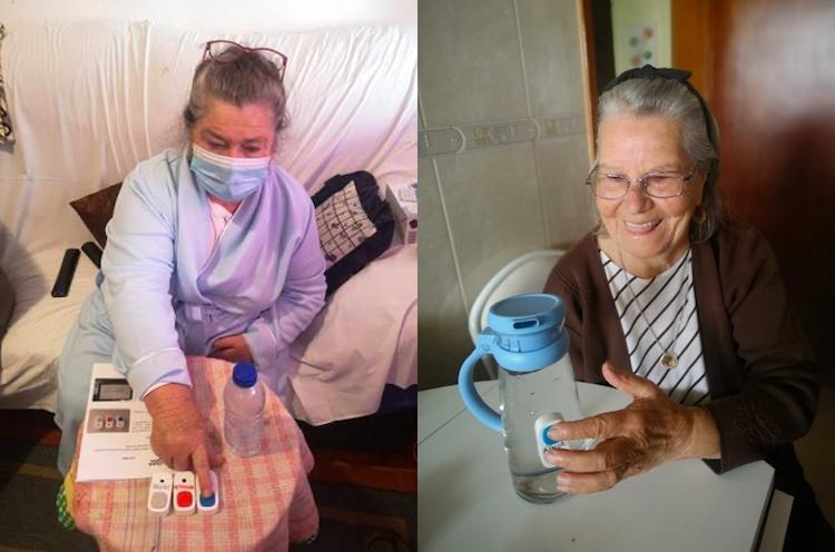 Jornal Campeão: Utentes da Cáritas de Coimbra experimentam botões que os lembram de beber água