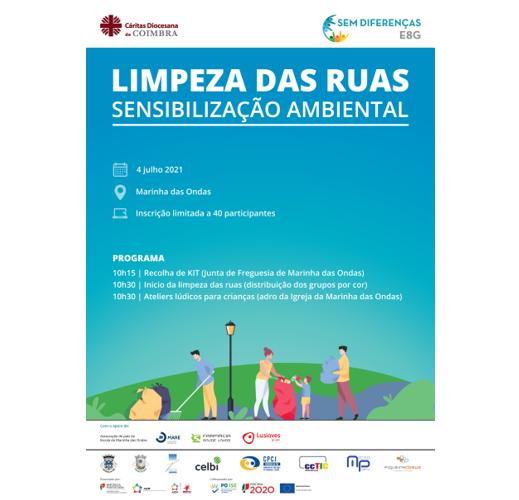 Jornal Campeão: Projecto da Cáritas de Coimbra promove acção de limpeza de ruas na Marinha das Ondas