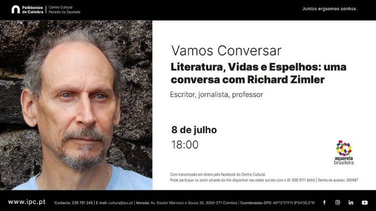 """Jornal Campeão: """"Vamos conversar"""" com Richard Zimler no Centro Cultural do Politécnico de Coimbra"""
