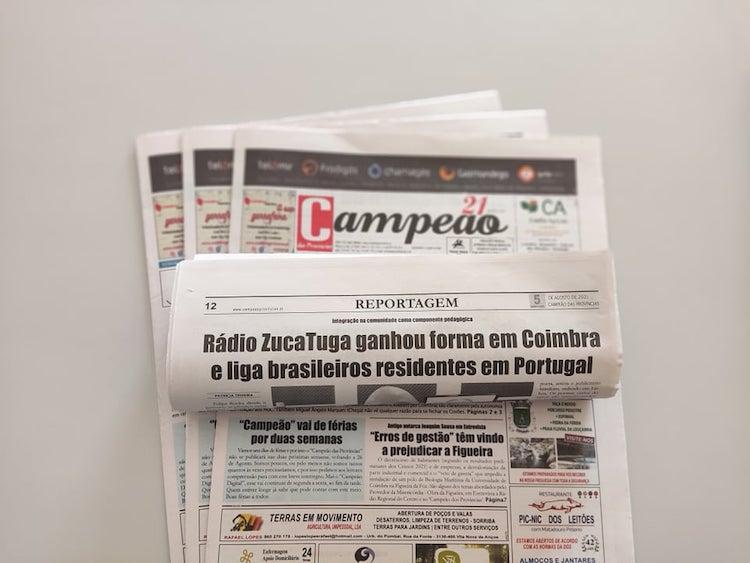 Jornal Campeão: Rádio ZucaTuga ganhou forma em Coimbra e liga brasileiros residentes em Portugal