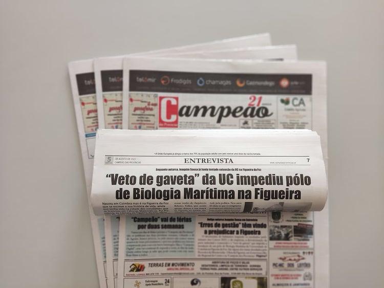 """Jornal Campeão: """"Veto de gaveta"""" da UC impediu pólo de Biologia Marítima na Figueira"""