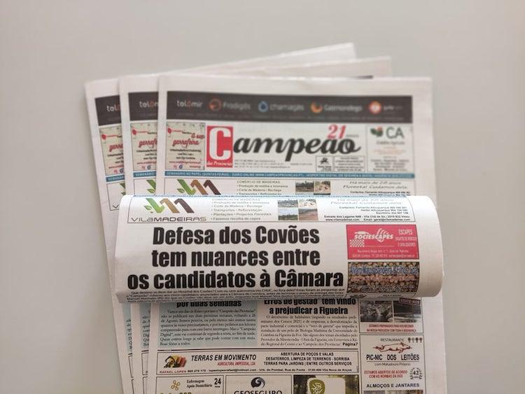 Jornal Campeão: Defesa dos Covões tem nuances entre os candidatos à Câmara