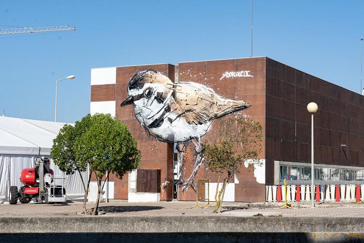 Jornal Campeão: Praia de Mira ganha obra de arte urbana de Bordalo II inspirada no borrelho