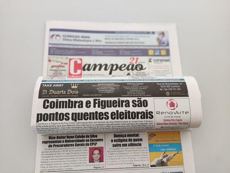 Jornal Campeão: Coimbra e Figueira são pontos quentes eleitorais