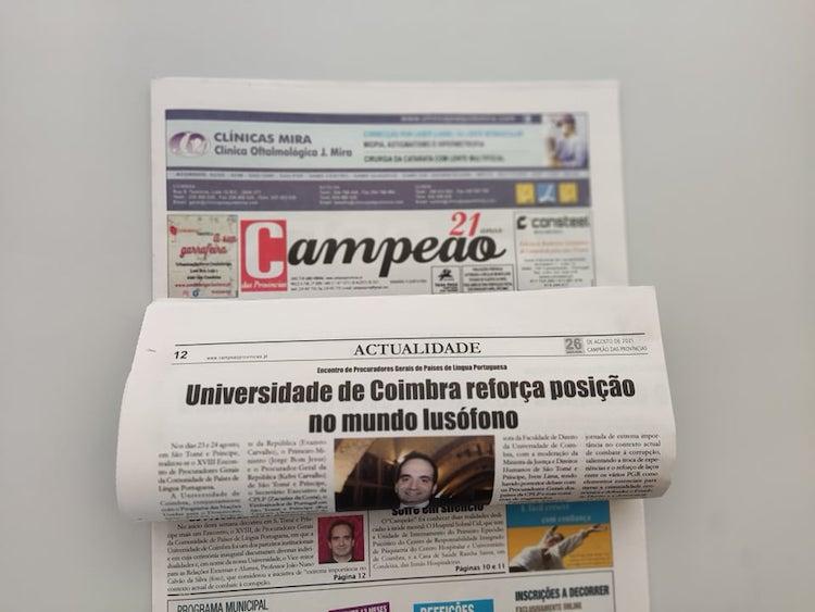 Jornal Campeão: Universidade de Coimbra reforça posição no mundo lusófono
