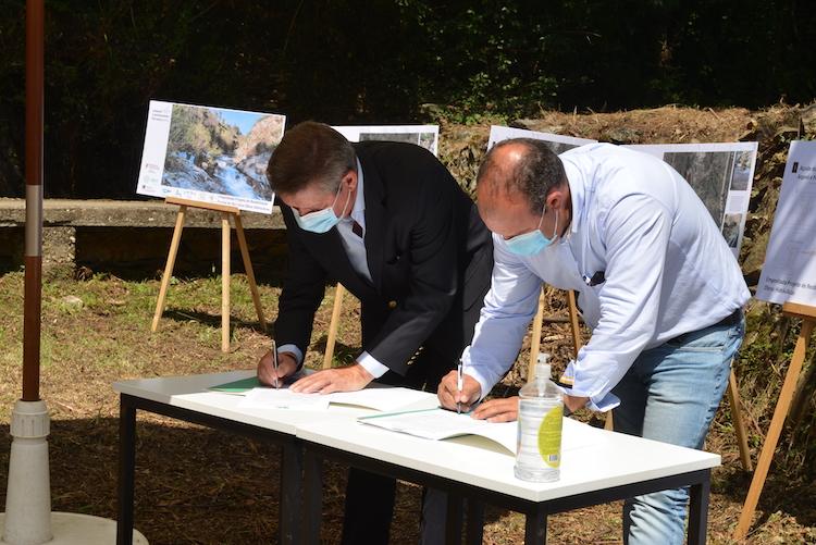 Jornal Campeão: Assinado auto de consignação da empreitada de reabilitação fluvial do rio Ceira