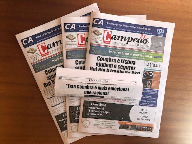 """Jornal Campeão: """"Esta Coimbra é mais emocional que racional"""""""