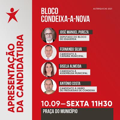Jornal Campeão: Bloco de Esquerda apresenta candidatos a Condeixa-a-Nova