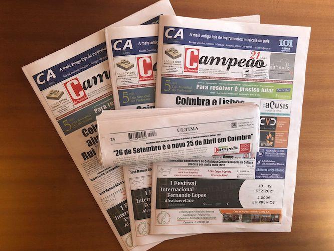 """Jornal Campeão: """"26 de Setembro é o novo 25 de Abril em Coimbra"""""""