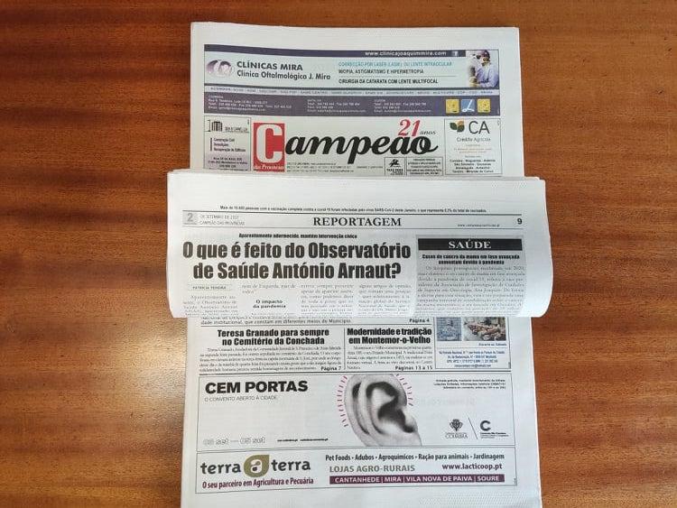 Jornal Campeão: O que é feito do Observatório de Saúde António Arnaut?