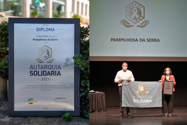 """Jornal Campeão: Câmara de Pampilhosa da Serra premiada com galardão e bandeira """"Autarquia Solidária"""""""